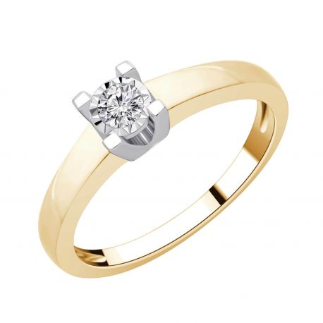 Solitaire diamants pastillés Sonia 0,12ct