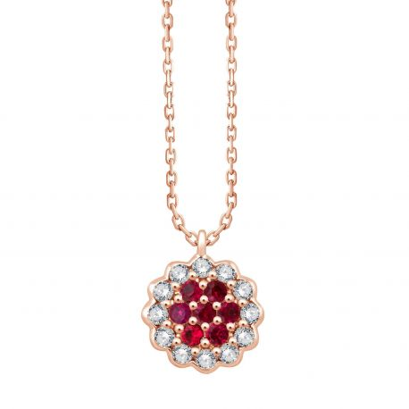 Collier Flore Rubis