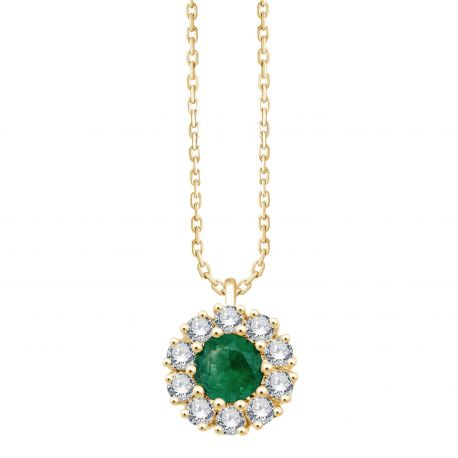 Collier Hortense Emeraude