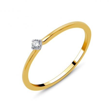 Solitaire or 18cts - diamant 0,03ct
