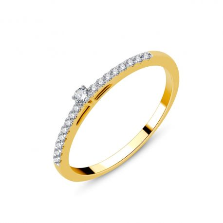 Solitaire or 18cts - diamants 0,15ct