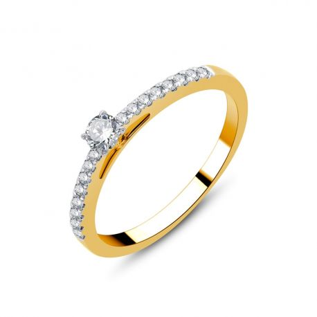Solitaire or 18cts - diamants 0,29ct