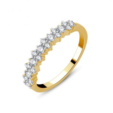 Bague or 18cts - diamants 0,49ct