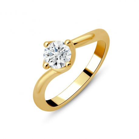 Solitaire or 18cts - diamants 0,70ct