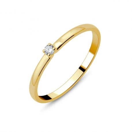 Solitaire or 18cts - diamant 0,035ct