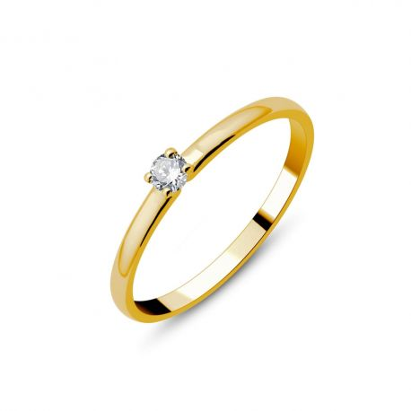 Solitaire or 18cts - diamant 0,07ct
