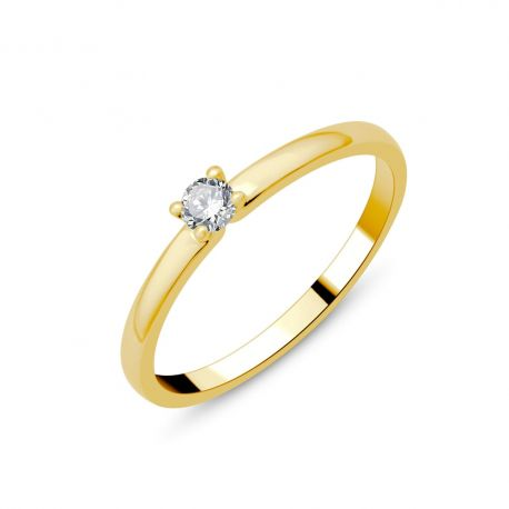 Solitaire or 18cts - diamant 0,10ct