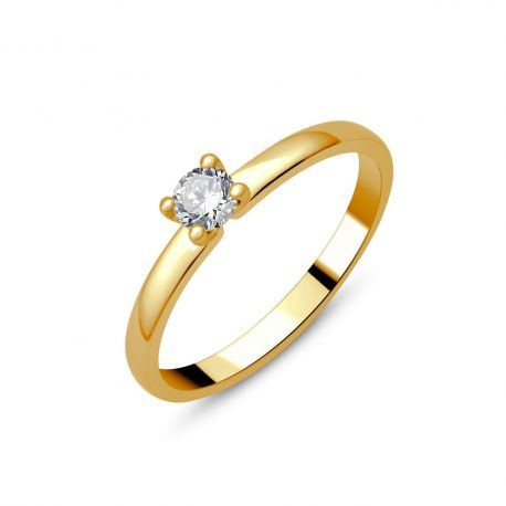 Solitaire or 18cts - diamant 0,23ct
