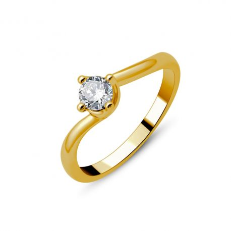Solitaire or 18cts - diamants 0,35ct