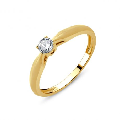 Solitaire or 750/000 diamant 0,20cts