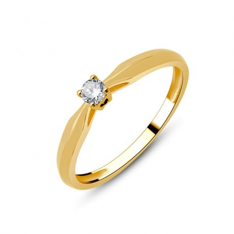 Solitaire or 750/000 diamant 0,09ct