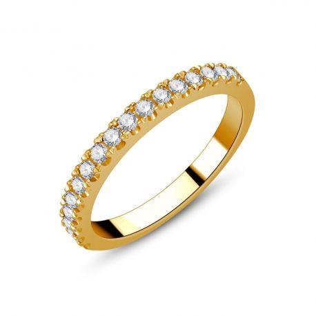 Demi-alliance or 750/000 - diamants 0,33ct