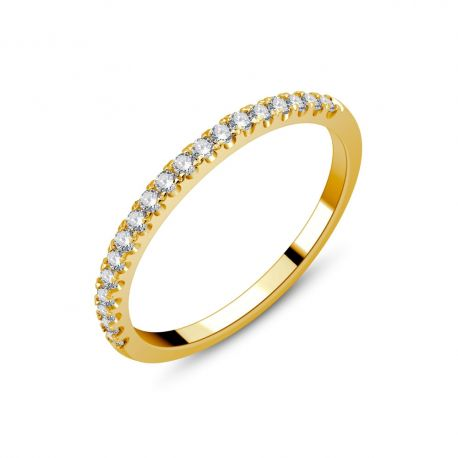 Demi-alliance or 750/000 - diamants 0,23ct
