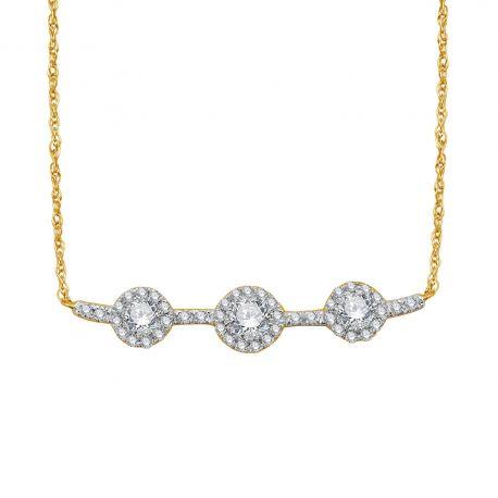 Collier or 750/000 - diamant 0,35ct