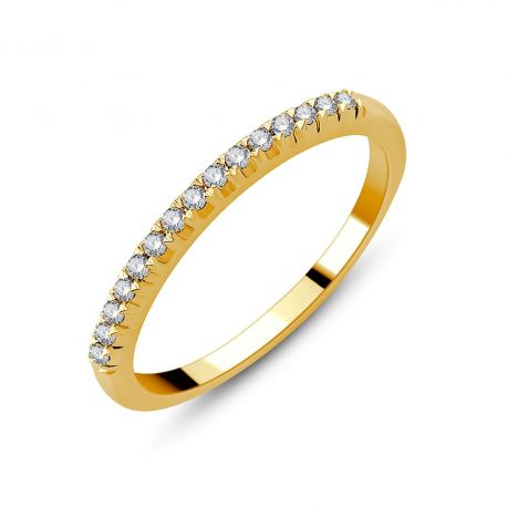 Demi-alliance or 750/000 - diamants 0,14ct