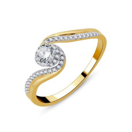 Solitaire or 750/000 -diamants 0,42ct