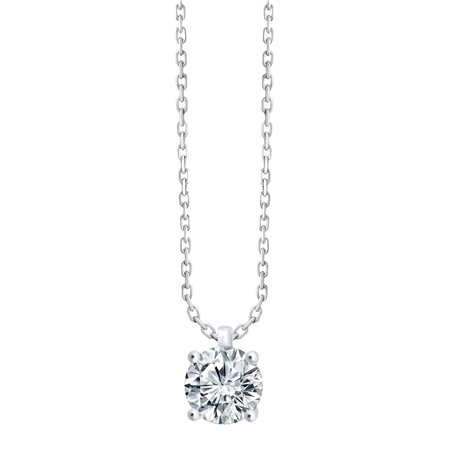 Collier 4 griffes - 0,70 ct