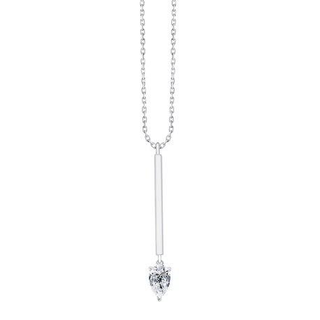 Collier diamant poire 3 griffes – 0,30 ct