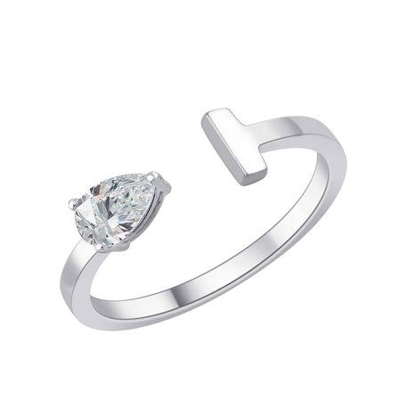 Bague bague poire diamant 3 griffes – 0,30 ct