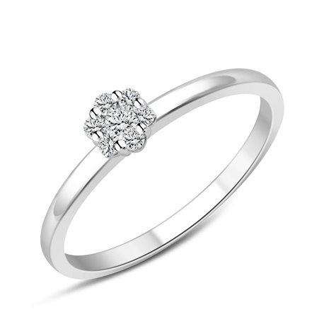 Bague multi-diamants – 0,19 ct