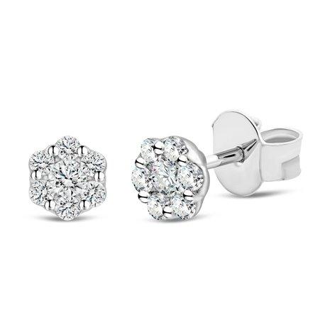 Boucles d'oreilles multi-diamants - 0,20 ct