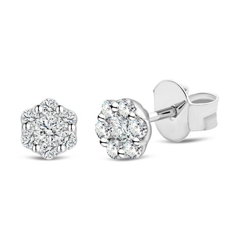 Boucles d'oreilles multi-diamants - 0,20 ct