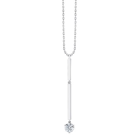 Collier solitaire 3 griffes – 0,30 ct
