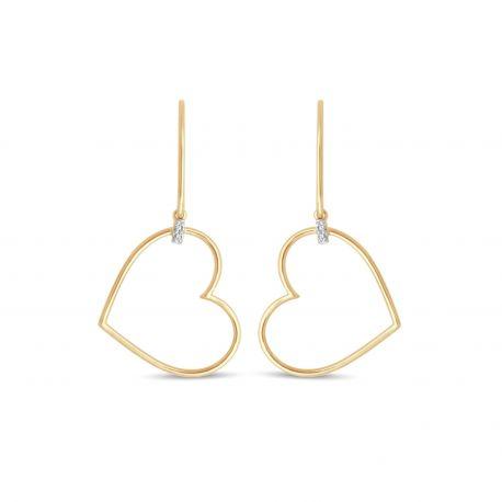 Boucles d'oreilles Coeur W1/E1