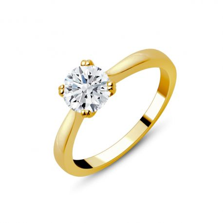 Solitaire or 750/000 diamant 1ct