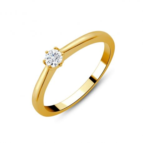 Solitaire or 750/000 diamant 0,16ct