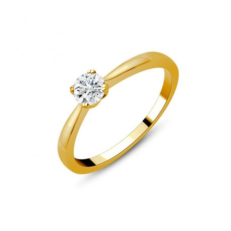 Solitaire or 750/000 diamant 0,30ct