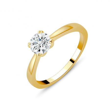 Solitaire or 750/000 diamant 0,40ct