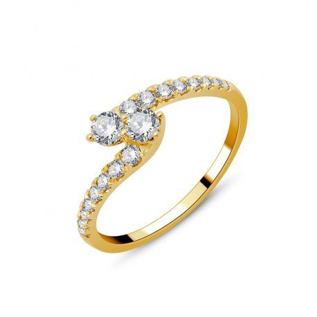 Bague Toi et Moi or 750/000 - diamants 0,51ct