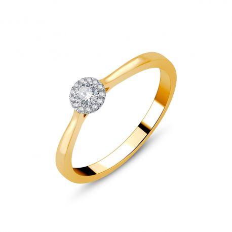 Solitaire illusion diamants or 750/000