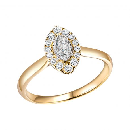 BAGUE CAPRICE DIAMANT TAILLE MARQUISE