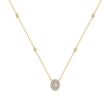 COLLIER CAPRICE DIAMANT TAILLE OVALE
