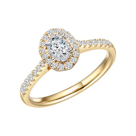 BAGUE CAPRICE DIAMANT TAILLE OVALE