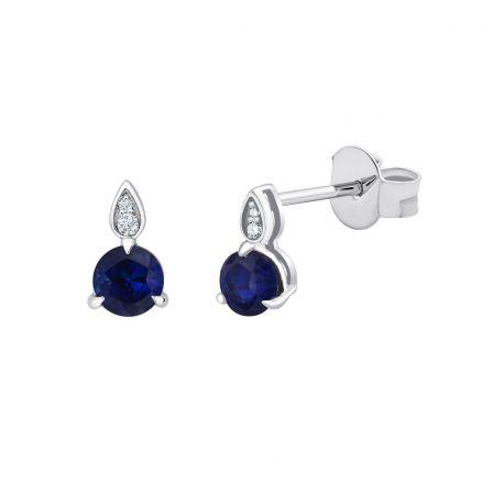 Boucles d'oreilles Erin Saphirs et diamants