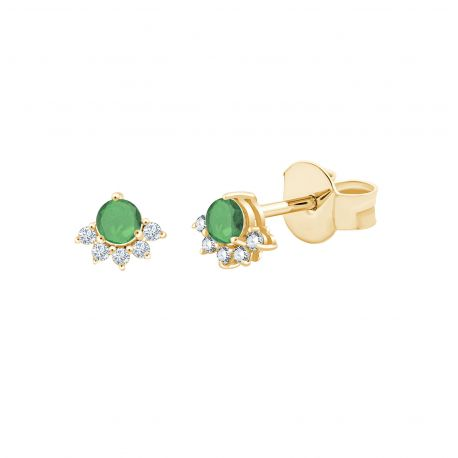 Boucles d'oreilles Annabelle Emeraudes et diamants