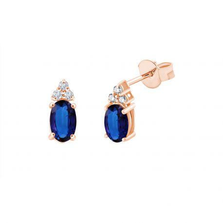 Boucles d'oreilles Maggie Saphirs et diamants