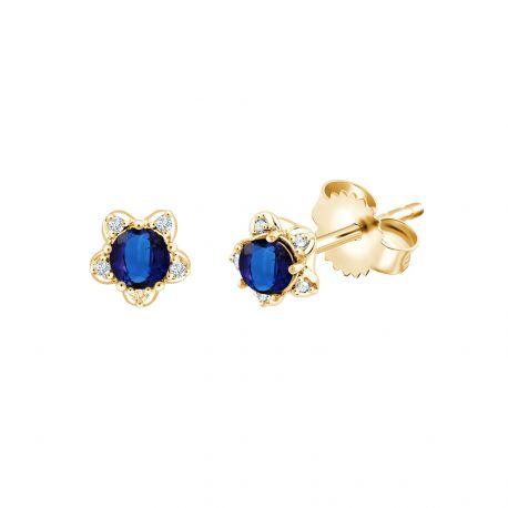 Boucles d'oreilles Jordana Saphirs et diamants