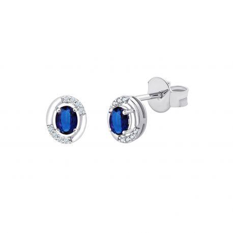 Boucles d'oreilles Mina Saphirs et diamants