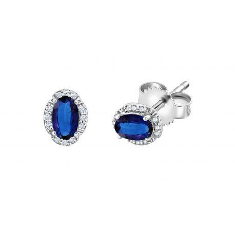Boucles d'oreilles Maylou Saphirs et diamants