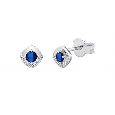 Boucles d'oreilles Lalla Saphirs et diamants