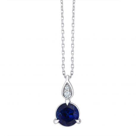 Collier Erin Saphir et diamants