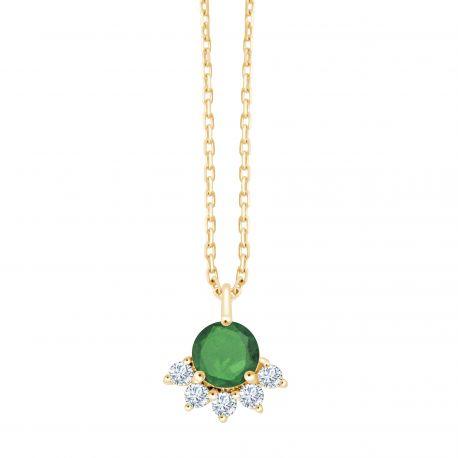 Collier Annabelle Emeraude et diamants
