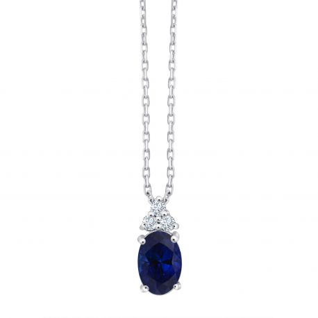 Collier Maggie Saphir et diamants