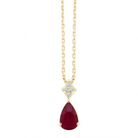 Collier Georgie Rubis et diamants
