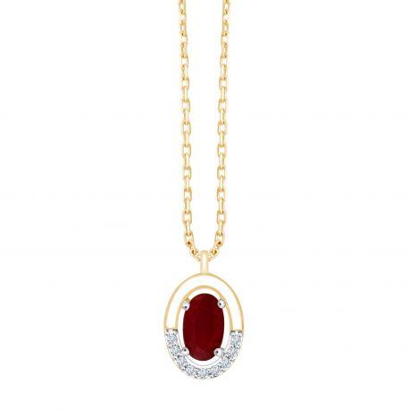 Collier Leia Rubis et diamants