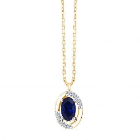 Collier Mina Saphir et diamants
